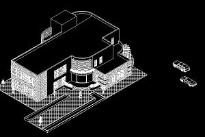 دانلود طرح معماری فرهنگسرا (پلان - نما - برش – سه بعدی داخلی و خارجی)