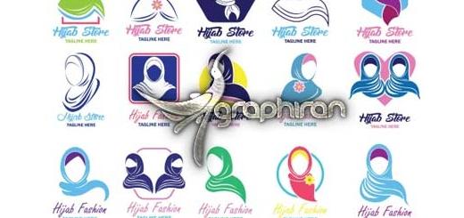 دانلود مجموعه ۲۵ لوگوی وکتور با موضوع زن و حجاب فرمت EPS