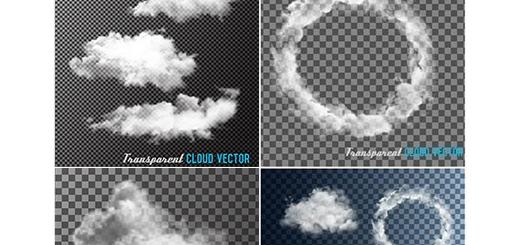 دانلود تصاویر وکتور دود، ابر و آسمان ابری