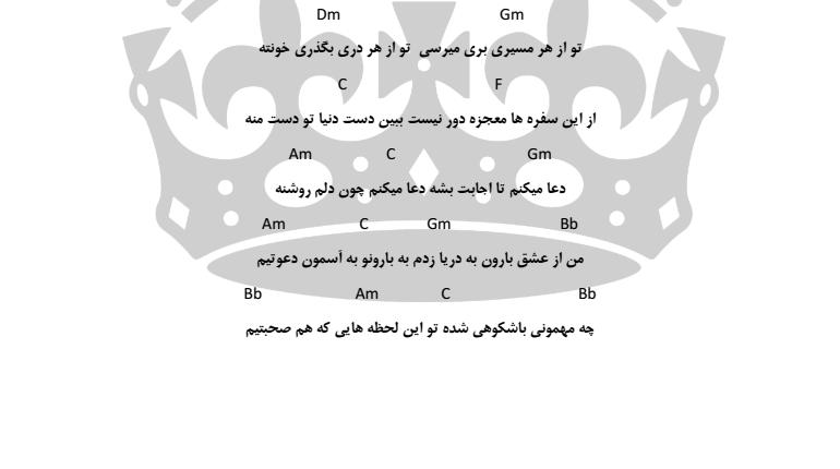 اکورد شهر باران از محمد علیزاده