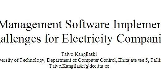 ترجمه مقاله چالش های استقرار سازی برنامه کامپیوتری مدیریت دارایی بمنظور شرکت های برق