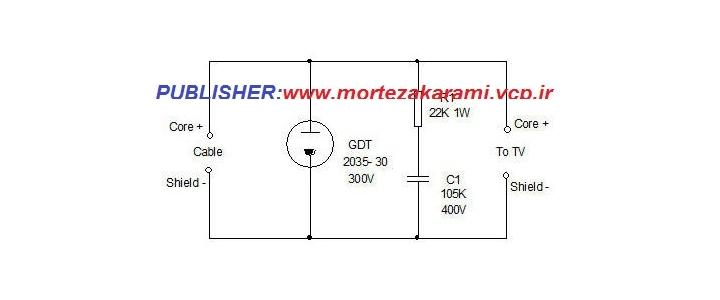 مدار حذف رعدوبرق ازخط انتقال تصویر تلویزیون(اسپایک)