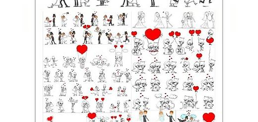 دانلود تصاویر با کیفیت کاراکترهای کارتونی عروس و داماد