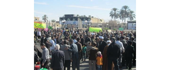 راهپیمایی اعتراض آمیز در محکومیت اهانت به ساحت پیامبر (ص)