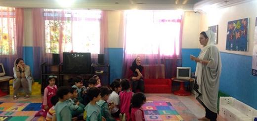 اجرای برنامه آموزشی آشنایی با حیوانات در مهد کودک نوگلان