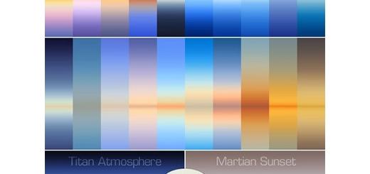 مجموعه زیبا از گرادینت های رنگ آسمان، آبی، زرد، نارنجی - GraphicRiver 30 Real Sky Gradients
