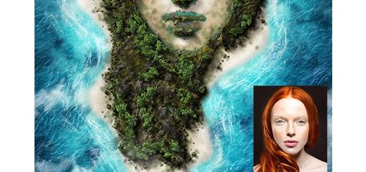 دانلود اکشن فتوشاپ تبدیل تصاویر به جزیره به همراه آموزش ویدئویی