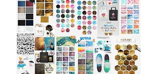 دانلود مجموعه تصاویر کلیپ آرت عناصر طراحی آبرنگی تکسچر، پترن، استایل فتوشاپ و ایلوستریتور و ... به همراه آموزش ویدئویی