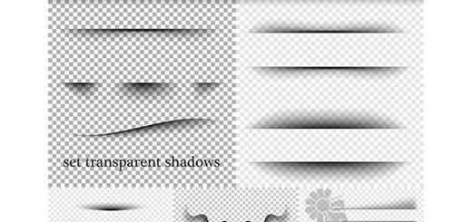 دانلود تصاویر وکتور افکت سایه شفاف برای لبه و خطوط متنوع
