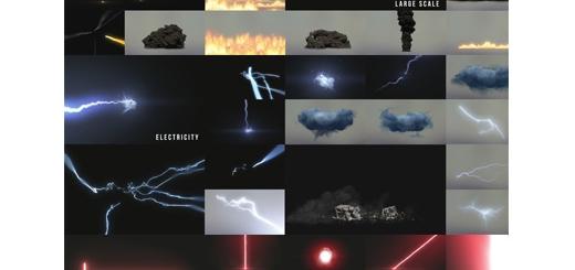 دانلود مجموعه جلوه های ویژه سینمایی شامل انفجار ، لیزر ، نور و گرد و غبار