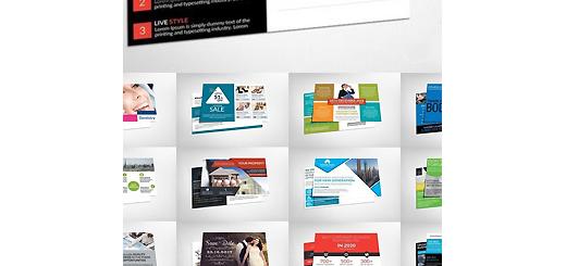 دانلود 38 قالب لایه باز کارت پستال های تجاری متنوع