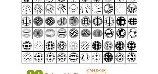 دانلود اشکال دایره، مدور، منحنی 60 - Spheroids Shapes 01