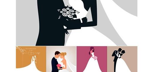 دانلود تصاویر وکتور طرح های کارت تبریک عروسی