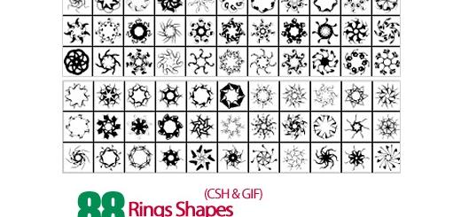دانلود اشکال حلقوی، دایره - Rings Shapes