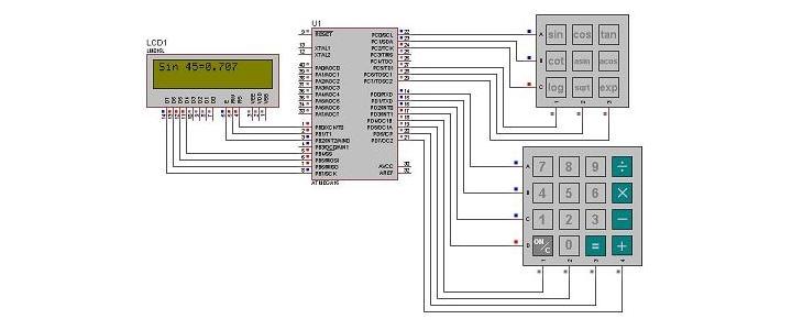 ماشین حساب مهندسی با AVR