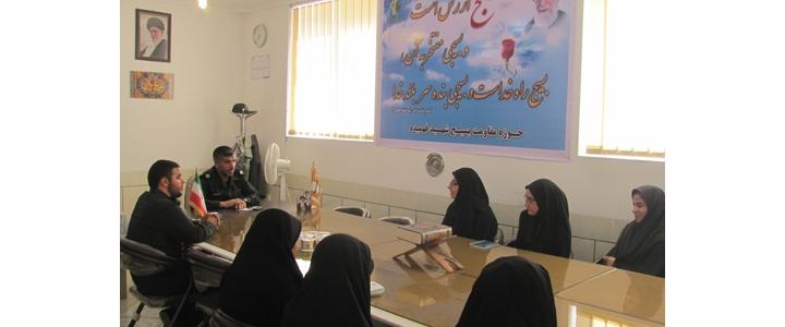 حضور مسئول سازمان بسیج دانش آموزی استان فارس در نی ریز