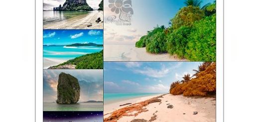 دانلود تصاویر با کیفیت کوه های سرسبز و جزیره