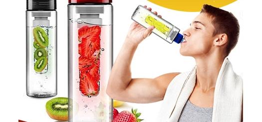 بطری آب با اسانس میوه Detox Water دارای فیلتر مخصوص میوه و سبزیجات
