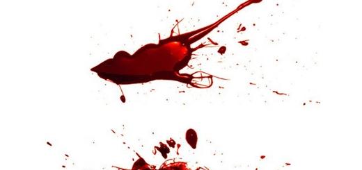 دانلود براش قطرات خون پاشیده شده براق