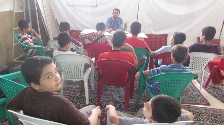 گزارش تصویری  اولین جلسه کلاس روخوانی قرآن کریم