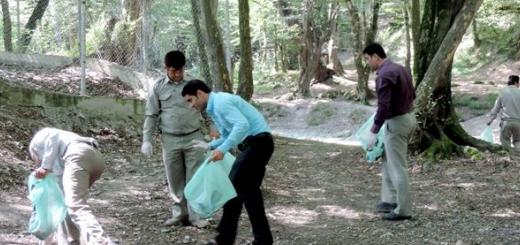 جنگل النگدره گرگان از وجود حجم زیادی زباله پاکسازی شد