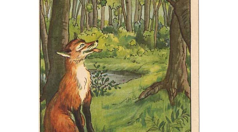 حکایت آموزنده ی The Fox and the Crow