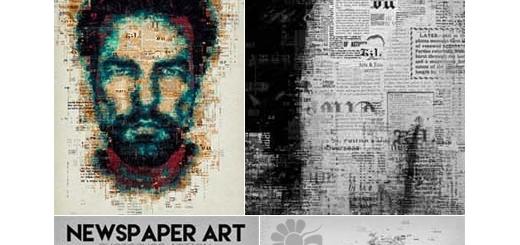 دانلود اکشن فتوشاپ ایجاد افکت هنری روزنامه بر روی تصاویر