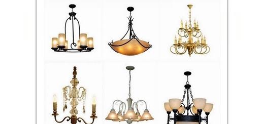 دانلود تصاویر با کیفیت لوستر های لوکس و چراغ های تزئینی با پس زمینه شفاف