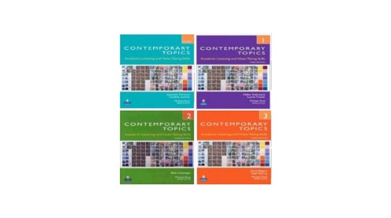 دانلود کتاب های تقویت مهارت شنیداری آکادمیک Contemporary Topics