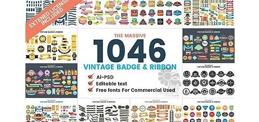 دانلود 1046 وکتور روبان و مدال های مختلف