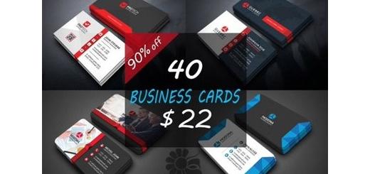 دانلود 40 قالب لایه باز کارت ویزیت دورو با طرح های متنوع