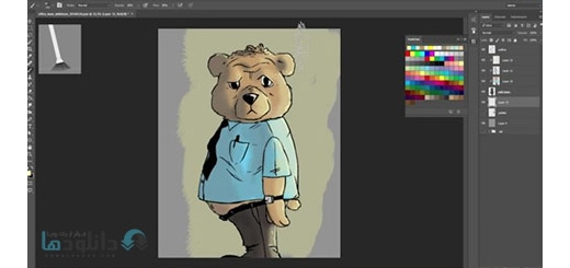 دانلود فیلم آموزش رنگ آمیزی یک طرح در فتوشاپ