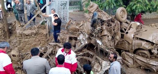 مرگ یازده نفر در پی وقوع سیل در تهران و کرج