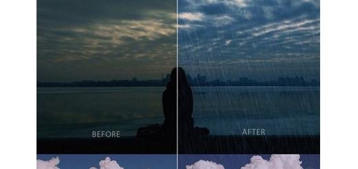 دانلود اکشن فتوشاپ ایجاد افکت باران بر روی تصاویر