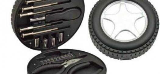 جعبه ابزار طرح تایر شامل 24 قطعه پر کاربرد