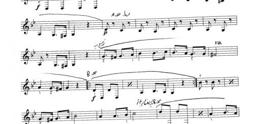 نت درس ۶ سرود برادران غلامرضا مین باشیان سالار معزز هنرستان ۲ خالقی با حاشیه نگاری نیما فریدونی