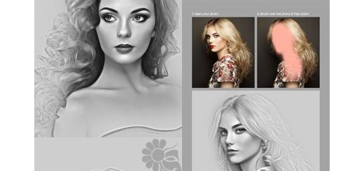 دانلود اکشن فتوشاپ ایجاد افکت سیاه و سفید عکاسی بر روی تصاویر