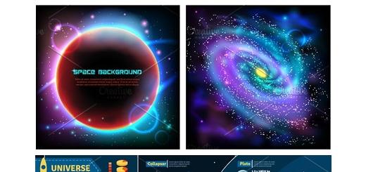 دانلود تصاویر وکتور فضا، سیارت و نجوم