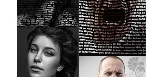 دانلود اکشن فتوشاپ ساخت تصاویر با افکت تایپوگرافی