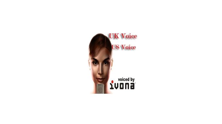 صدای امریکن و بریتیش برای نرم افزارمتن خوان Ivona