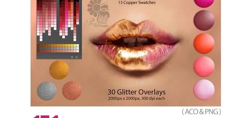 دانلود 171 سواچ رنگ رژ لب برای نقاشی دیجیتال در فتوشاپ