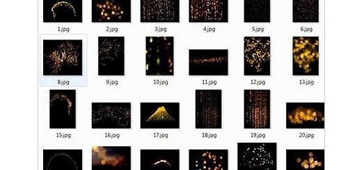دانلود 80 تصویر کلیپ آرت افکت های نورانی طلایی