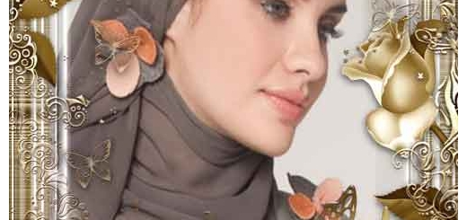 دانلود فون و قاب عکس لایه باز طلایی برای فتوشاپ