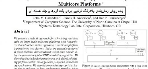 ترجمه مقاله شیوه برنامه ریزی بلادرنگ ترکیبی برای مقیاس بزرگ سیستم عامل چند هسته ای