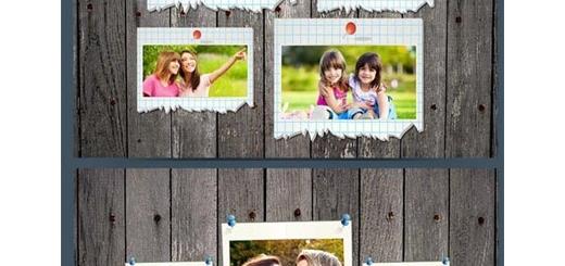 دانلود تصاویر لایه باز فریم های کاغذی پاره و ساده