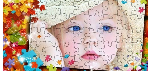 دانلود قاب عکس کودک با طرح پازل