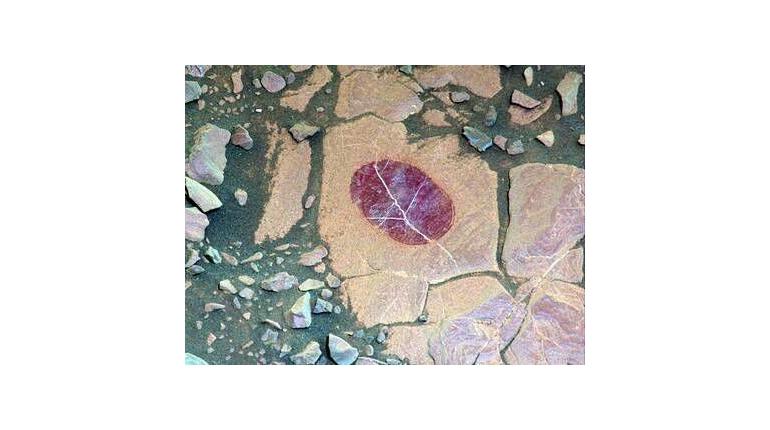 عکس از سطح مریخ سنگ های کفه ای