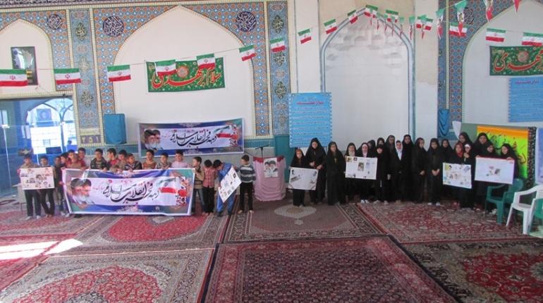 گزارش تصویری مسابقات روزنامه دیواری کانون های فرهنگی هنری مساجد شهرستان خمین