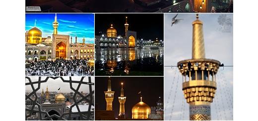 دانلود 14 تصویر با کیفیت صحن و گنبد امام رضا (ع)