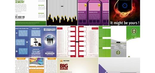 دانلود مجموعه تصاویر لایه باز گرافیک ریور - کارت ویزیت و کاتالوگ های متنوع - دی وی دی 81